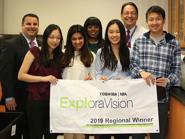Toshiba ExploraVision 10-12 second place national winner, Jericho, NY